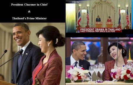 PRESIDENT OBAMA & THAILAND'S PM-1