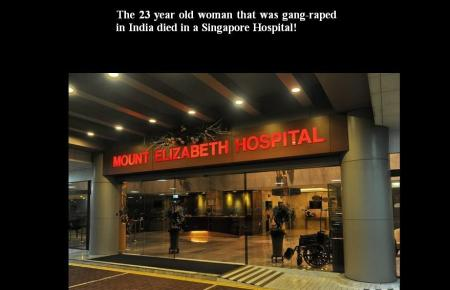INDIAN GANG-RAPED STUDENT DIED DEC 28 12