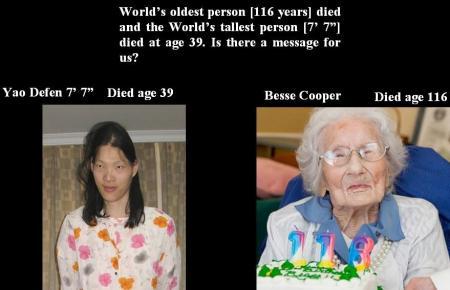 WORLD - OLDEST - TALLEST NOV 6 12