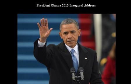 PRESIDENT OBAMA 2013 INAUGUAL ADDRESS