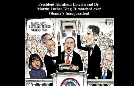 PRESIDENT OBAMA-ABRAHAM LINCOLIN- MARTIN LUTHER
