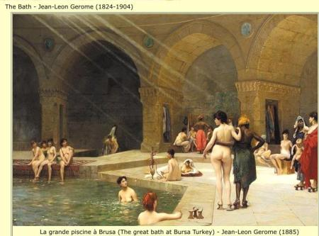 THE BATH - JEAN-LEON GEROME 1824-1904