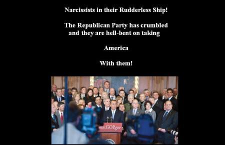 REPUBLICANS THE RUDDERLESS SHIP