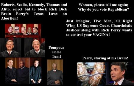 SUPREME COURT DICK BRAINS- RICK PERRY