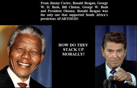 NELSON MANDELA - RONALD REAGAN - 2