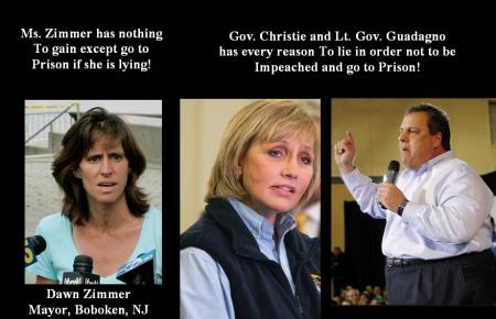 CHRIS CHRISTIE-LT GOV-DAWN ZIMMER