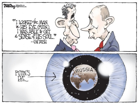 GEORGE W. BUSH - PUTIN CARTOON APRIL 16 14