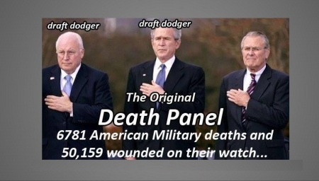 BUSH - CHENEY - DRAFT DOGERS