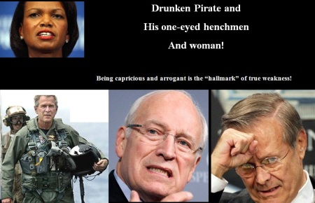 BUSH - DRUNKEN PIRATE - ONE-EYED HENCHMEN