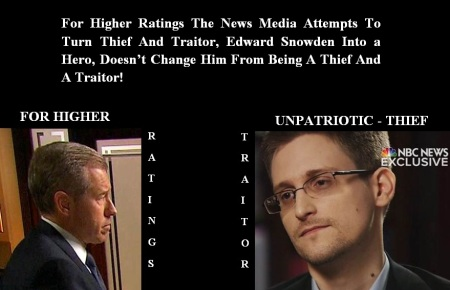 EDWARD SNOWDEN - NBC - THIEF - TRAITOR