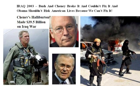 BUSH AND CHENEY - IRAQ - 2
