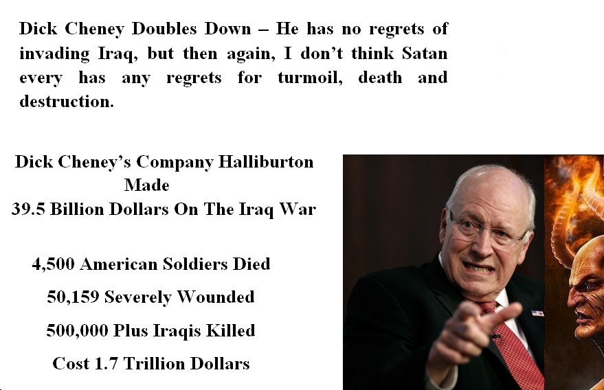 dick cheney is evil