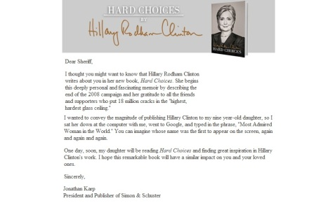 HILLARY CLINTON - HARD CHOICES JUNE 10 2014