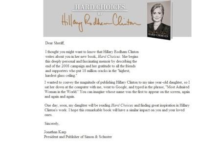 HILLARY CLINTON - HARD CHOICES JUNE 10 2014