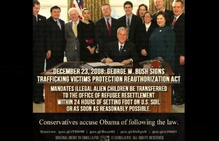AMERICA- BUSH - CHILDREN PROTECTION - E