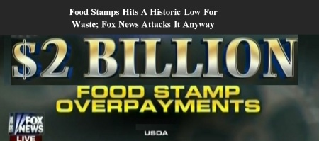 AMERICA - FOOD STAMPS - FOX - GOP