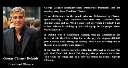AMERICA - GEOGE CLOONEY - DEMOCRATS
