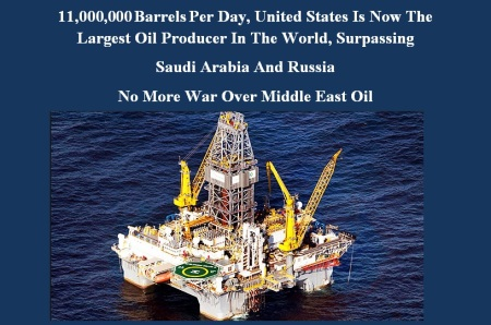 AMERICA - LARGEST OIL PRODUCER IN THE WORLD