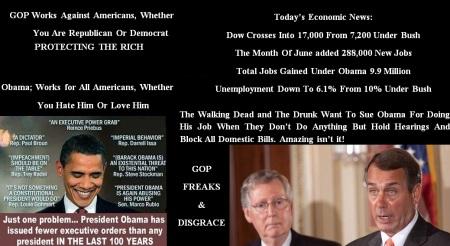 AMERICA - OBAMA - ECONOMY - GOP DISGRACE