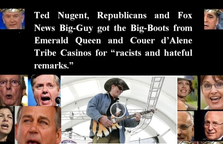 AMERICA - TED NUGENT CASINO CANCELS CONCERTS