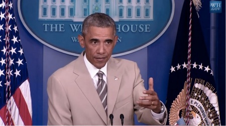 AMERICA - PRESIDENT OBAMA - TAN MAN TAN SUIT