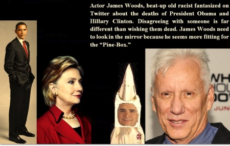 BARACK OBAMA - HILLARY CLINTON - JAMES WOODS AUGUST 11 14