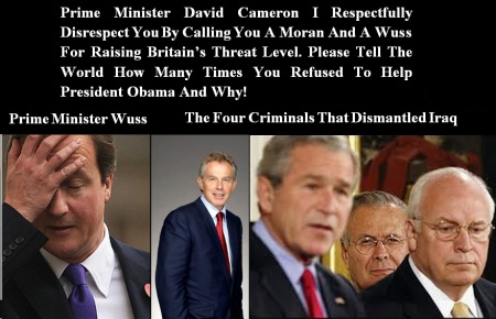 DAVID CAMERON - THREAT LEVEL RAISED