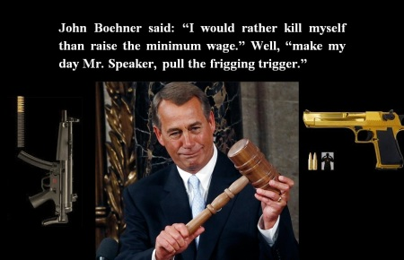 JOHN BOEHNER - HE WOULD RATHER KILL HIMSELF