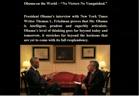 PRESIDENT OBAMA - NYT - THOMAS L FRIEDMAN 08-08-14