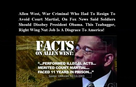 ALLEN WEST - WAR CRIMINAL