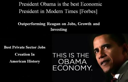 BARACK OBAMA - FORBES BEST ECONOMIC PRESIDENT