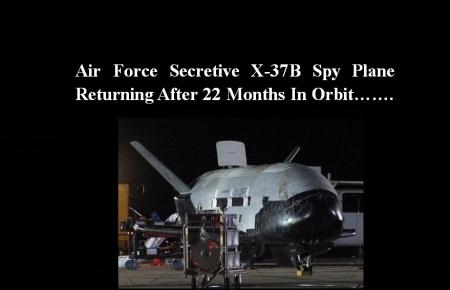 AMERICA SPY PLANE X37B