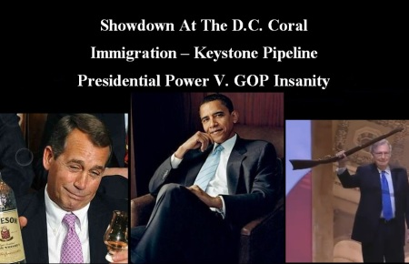GOP - OBAMA - SHOWDOWN CORAL