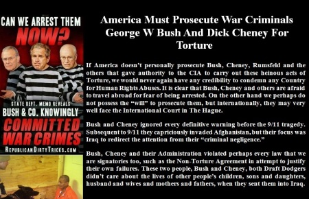 BUSH CHENEY WAR CRMINALS DEC 15 14