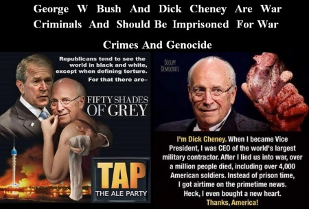 DICK CHENEY GEORGE W BUSH IMPRISONED