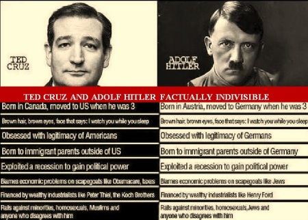 HITLER ADOLFE - TED CRUZ INDIVISIBLE