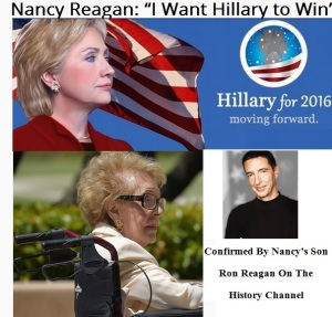 HILLARY CLINTON - NANCY - RON REAGAN