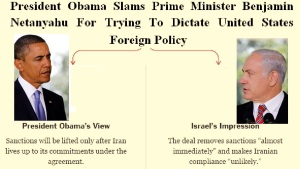PRESIDENT OBAMA SLAMS NETANYAHU - IRAN