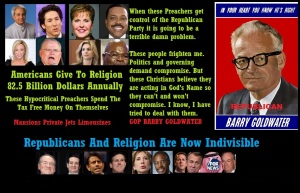 AMERICANS - GOP - RELIGION BARRY GOLDWATER