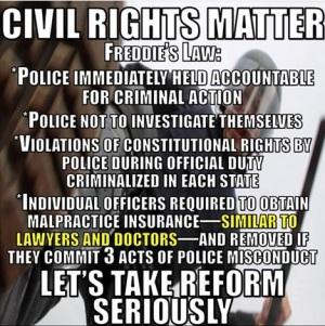 FREDDIE GRAY CIVIL RIGHTS LAW