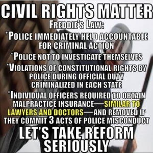 FREDDIE GRAY CIVIL RIGHTS LAW