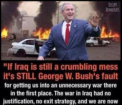 IRAQ GEORGE W BUSH MESS