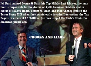 JEB BUSH AND GEORGE W BUSH - ADVISOR