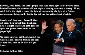 BARACK OBAMA TO EULOGIZE BEAU BIDEN - 2