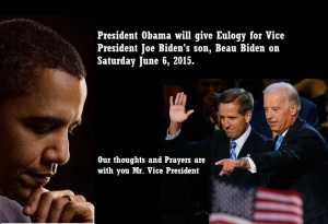 BARACK OBAMA TO EULOGIZE BEAU BIDEN