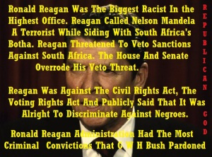 HATE - RACISM - RONALD REAGAN - 2