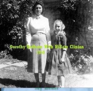 HRC WITH HER MOM 1950