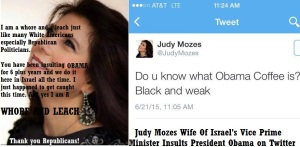 ISRAEL - JUDY MOZES WHORE AND LEACH