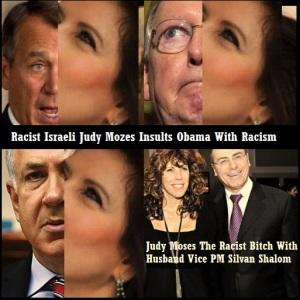ISRAELI - JUDY MOSES RACIST BITCH