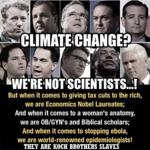 CLIMATE CHANGE GOP KOCH BROTHERS SLAVES
